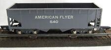 1949-53 AF Gray-Plastic 640 Coal Hopper White Lettering AMERICAN FLYER S-Gauge.