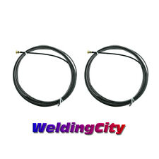 """2 MIG Welding Gun Liners 45-40-15 .035-045"""" 15-ft for Lincoln 100L Tweco Mini/#1"""