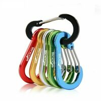 Fishing Aluminum Alloy Carabiner Outdoor Camping Snap Clip Lock Buckle Hook 6Pc
