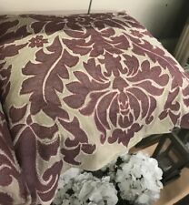 Pottery Barn Francesca Pillow Cover Mauve 24 sq Floral Embroidered New