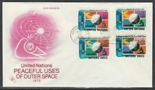 United Nations Scott 256-7 & G46-7 Art Craft Combo FDC - Outer Space