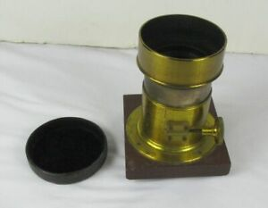 Antique Darlot Paris Brass Rack & Pinion Adjustable Lens & Cap  Paris # 34250