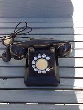 WESTERN ELECTRIC ROTARY DESK TELEPHONE PHONE E1W BLACK