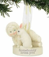 Dept 56 Snowbabies New 2017 SOMEBUNNY LOVES YOU Snowbaby Ornament 4058678