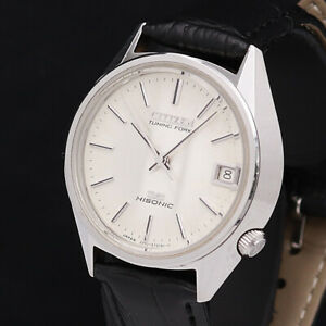 Vintage Citizen Hisonic 3711 Tuning Fork Sweep Seconds Hand ment's Watch 1974