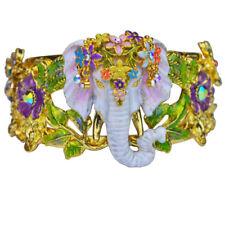 KIRKS FOLLY ELEPHANT WALK CUFF BRACELET goldtone