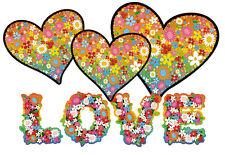 Blumen Aufkleber Hippie Blumen Autoaufkleber Flower Power: Love & Peace 09