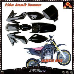 Black Plastic Fender Fairing Set for Zongshen Hummer 250CC 200CC Dirt Pit Bike