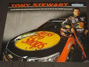 2014 TONY STEWART #14 BASS PRO SHOPS NASCAR POSTCARD