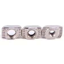 50PCS European T-slot Aluminum Carbon Steel Drop In T-Nut M3 M4 M5 Thread BLUS