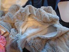 Pottery Barn Kids nursery fur critter elephant bath wrap mono Hayes New