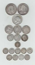 More details for pre 1920 british silver (.925) 19 coins (2/6ds-3ds), weight 76.84gms
