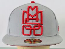 Animal Bikes MMS 00 BMX Gray Red Baseball New Era 59 Fifty Cap Hat Fitted 7 1/2