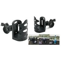 2 Pieces Adjustable Motorcycle ATV Bicycle Drink Bottle Cup Holder Mount