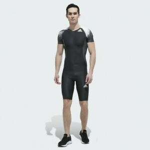 Men's adidas Adizero CLIMACHILL Speed Compression Track Suit-(Black)Sz Meduim