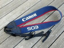 Genuine Canon Eos Shoulder Strap (Blue/Red) - Top Quality Product - Free UK Post