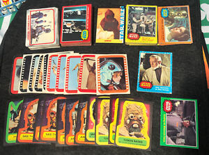 HUGE VINTAGE LOT OF STAR WARS TRADING CARDS Empire Strikes Back stickers