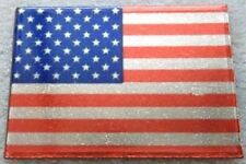 New listing Usa American Flag Lapel, Hat or Tie-Tac Pin by Osc Silver Plate New