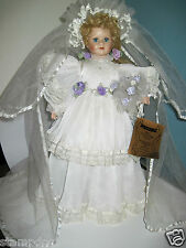 Symour Mann's Connoisseur Bride Doll with stand & stamped.