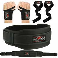 Weight Lifting Belt Strap Neoprene Gym Fitness Wrist Support Double Brace Wraps