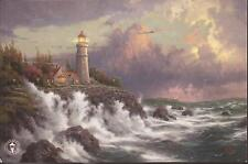 "Thomas Kinkade,""CONQUERING THE STORM"" Two (2) Postcards , NEW, Lighthouse"