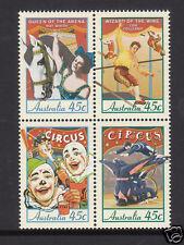 1997 Circuses of Australia -  MUH Block of 4