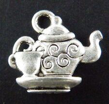 60pcs Tibetan Silver Teapot Charms 15x14mm zn44543
