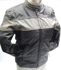 NexGen Textile Reflective Lightweight Motorcycle Jacket Black/Gray Womens Small