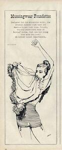 1945 Munsingwear PRINT AD Women's Underwear Foundettes ART