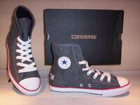 Scarpe sportive alte sneakers Converse All Star CT Super donna bambino grigie 35