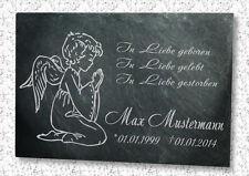 Grabstein Gedenktafel Grabplatte Urne Tiergrabstein Gedenkplatte Motiv Engel+