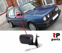 Per VW Golf MK2 83-92, Jetta 84-91 Nuovo Specchietto Laterale Manuale Nero Dx O/