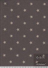 Dekostoff Swafing Kissingen bedruckte Leinenoptik Sterne 140 Cm Anthrazit