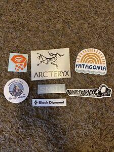 7A Awesome Outdoor Stickers Mtn hardwear Arc Teryx smith optics black Diamond