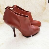 Kurt Geiger KG Leather Ankle Boots Booties Size 38 UK 5 Tan Brown