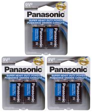 6 PCS Panasonic 9 Volts 9V Battery Batteries Super Heavy Duty Zinc Carbon EX2023