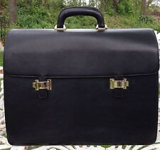 New Montblanc Meisterstuck Single Gusset Soft Grain Leather Briefcase Bag