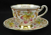 """Vintage Royal Chelsea """"Canadian Maple Leaf"""" Cup and Saucer"""