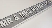 PERSONALISED wooden glitter street sign hand made mr & mrs wedding  80cmx15cm