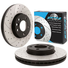 FRONT DRILLED GROOVED 308mm BRAKE DISCS PAIR FOR VW TRANSPORTER T5 2.0 TDI V6