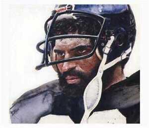 Franco Harris Pittsburgh Steelers Corning Print 12x14