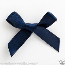 6mm Satin Bows 3cm Wide Pack of 100 Navy Blue 7924