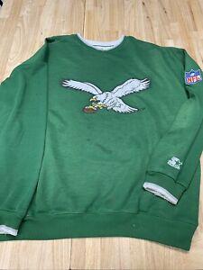 Vtg 90's Starter Pro Line NFL Philadelphia Eagles Green  Sweatshirt
