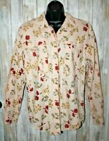 Vintage Outback Red Express Floral Button down shirt 80's  L