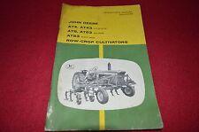 John Deere At4 At43 At6 At63 At83 Cultivator Operator's Manual Gdsd6