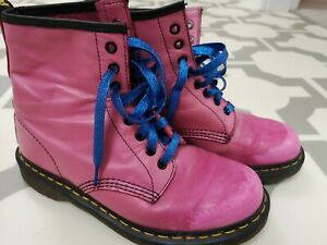Pink Dr Martens Size 7 eu41 Soft Leather Worn in, comfortable!