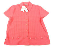 Christopher & Banks Womens Button Down Shirt  Size Small Coral NWT