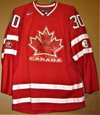 2010 CANADA Red #30 OLYMPIC HOCKEY TEAM RICHARD BRODEUR JERSEY