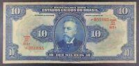 1925 Brazil - 10 Mil Reis Banknote, P-39d.