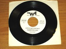 """SOUL 45 RPM - SAMMIE RELFORD - WHITE ENTERPRISES 114 - """"LOVE IS NOT FOR SALE"""""""